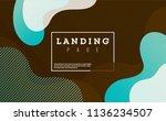 creative banner with fluid... | Shutterstock .eps vector #1136234507