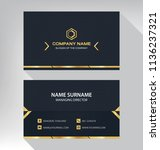 business model name card luxury ... | Shutterstock .eps vector #1136237321