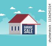 vector illustration of garage... | Shutterstock .eps vector #1136241314
