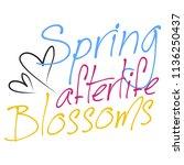 stylish trendy slogan tee t... | Shutterstock .eps vector #1136250437