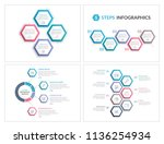 four infographic templates with ... | Shutterstock .eps vector #1136254934