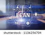 lean manufacturing. quality and ... | Shutterstock . vector #1136256704