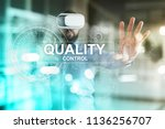 quality assurance. control and... | Shutterstock . vector #1136256707
