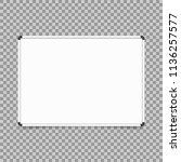empty whiteboard. magnetic... | Shutterstock .eps vector #1136257577