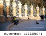 saint petersburg russia.   may... | Shutterstock . vector #1136258741
