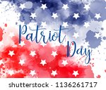 usa patriot day background. we... | Shutterstock .eps vector #1136261717