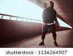 portrait of a dark skinned guy... | Shutterstock . vector #1136264507