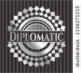 diplomatic silvery emblem or... | Shutterstock .eps vector #1136271215
