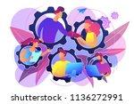 it team members working as one... | Shutterstock .eps vector #1136272991