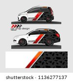 vehicle graphic vector kit.... | Shutterstock .eps vector #1136277137