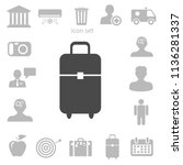 flat icon of bag vector... | Shutterstock .eps vector #1136281337