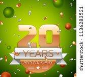 realistic twenty years... | Shutterstock .eps vector #1136283521