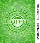 coffee green emblem. mosaic... | Shutterstock .eps vector #1136285189