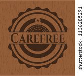 carefree wood emblem. retro | Shutterstock .eps vector #1136285291