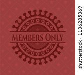 members only badge with red... | Shutterstock .eps vector #1136285369