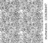 floral seamless pattern in... | Shutterstock . vector #1136286647