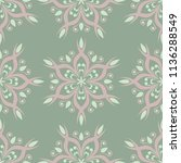 olive green floral seamless... | Shutterstock .eps vector #1136288549