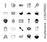 cooking icon. collection of 25...   Shutterstock .eps vector #1136290001