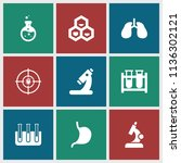 biology icon. collection of 9...   Shutterstock .eps vector #1136302121