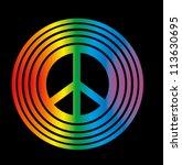 rainbow peace | Shutterstock .eps vector #113630695