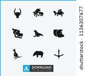 wildlife icon. collection of 9... | Shutterstock .eps vector #1136307677