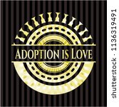 adoption is love gold badge or... | Shutterstock .eps vector #1136319491
