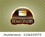 gold badge with business... | Shutterstock .eps vector #1136319575
