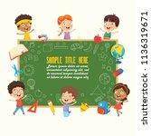 vector illustration of children ... | Shutterstock .eps vector #1136319671