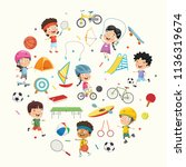 vector illustration collection... | Shutterstock .eps vector #1136319674
