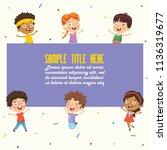 vector illustration of children ... | Shutterstock .eps vector #1136319677