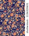 seamless floral design | Shutterstock . vector #1136320631