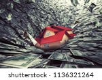 real estate market crisis with... | Shutterstock . vector #1136321264