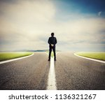 choices of a businessman at a...   Shutterstock . vector #1136321267