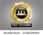 golden badge with business... | Shutterstock .eps vector #1136329691