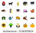 colored vector icon set   spike ... | Shutterstock .eps vector #1136335814