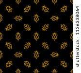 bee vector dark seamless... | Shutterstock .eps vector #1136338064
