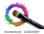 professional make up brush on... | Shutterstock . vector #113634307