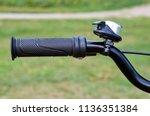 kids yellow bicycle in park ...   Shutterstock . vector #1136351384
