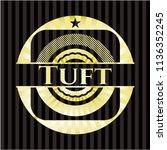 tuft golden emblem or badge | Shutterstock .eps vector #1136352245