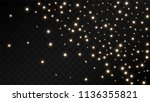 many random falling golden...   Shutterstock .eps vector #1136355821