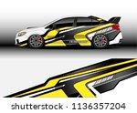 car decal graphic vector  truck ... | Shutterstock .eps vector #1136357204