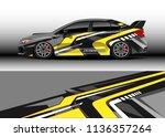 car decal graphic vector  truck ... | Shutterstock .eps vector #1136357264