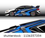 car decal graphic vector  truck ...   Shutterstock .eps vector #1136357354