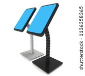 lcd screen stand. trade show... | Shutterstock . vector #1136358365