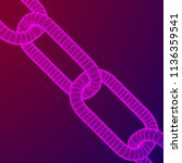 wireframe blockchain links....   Shutterstock . vector #1136359541