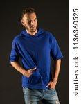 handsome man. handsome man in... | Shutterstock . vector #1136360525