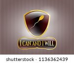 gold badge with sperm icon and ... | Shutterstock .eps vector #1136362439