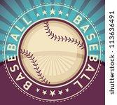 baseball poster. vector... | Shutterstock .eps vector #113636491