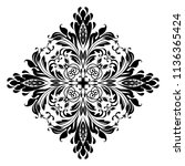 damask graphic ornament. floral ... | Shutterstock .eps vector #1136365424