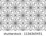 flower geometric pattern.... | Shutterstock .eps vector #1136365451